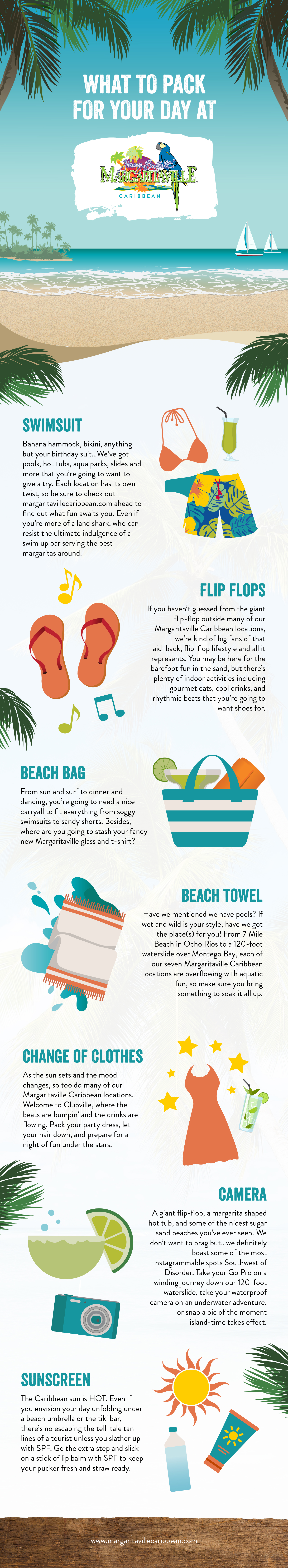 Infographic of what to pack
