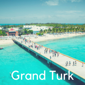 The beach and boardwalk at Margaritaville Grand Turk