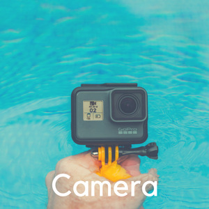 A go pro camera pointed at the water