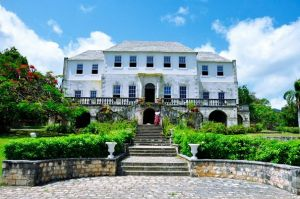 The facade of the Rose Estates, a Jamaican national monument