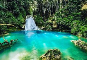 A picturesque waterfall in Jamaica
