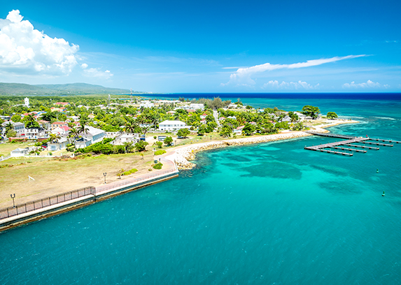 Falmouth, a family friendly Jamaican port that's home to the bioluminescent waters of Luminous Lagoon
